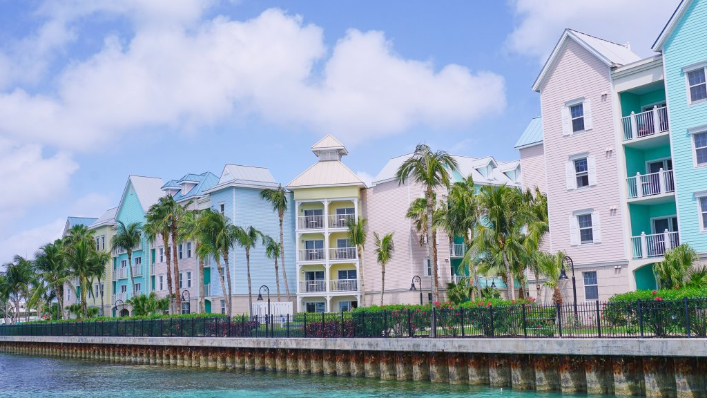 Colourful buildings in Nassau, Bahamas