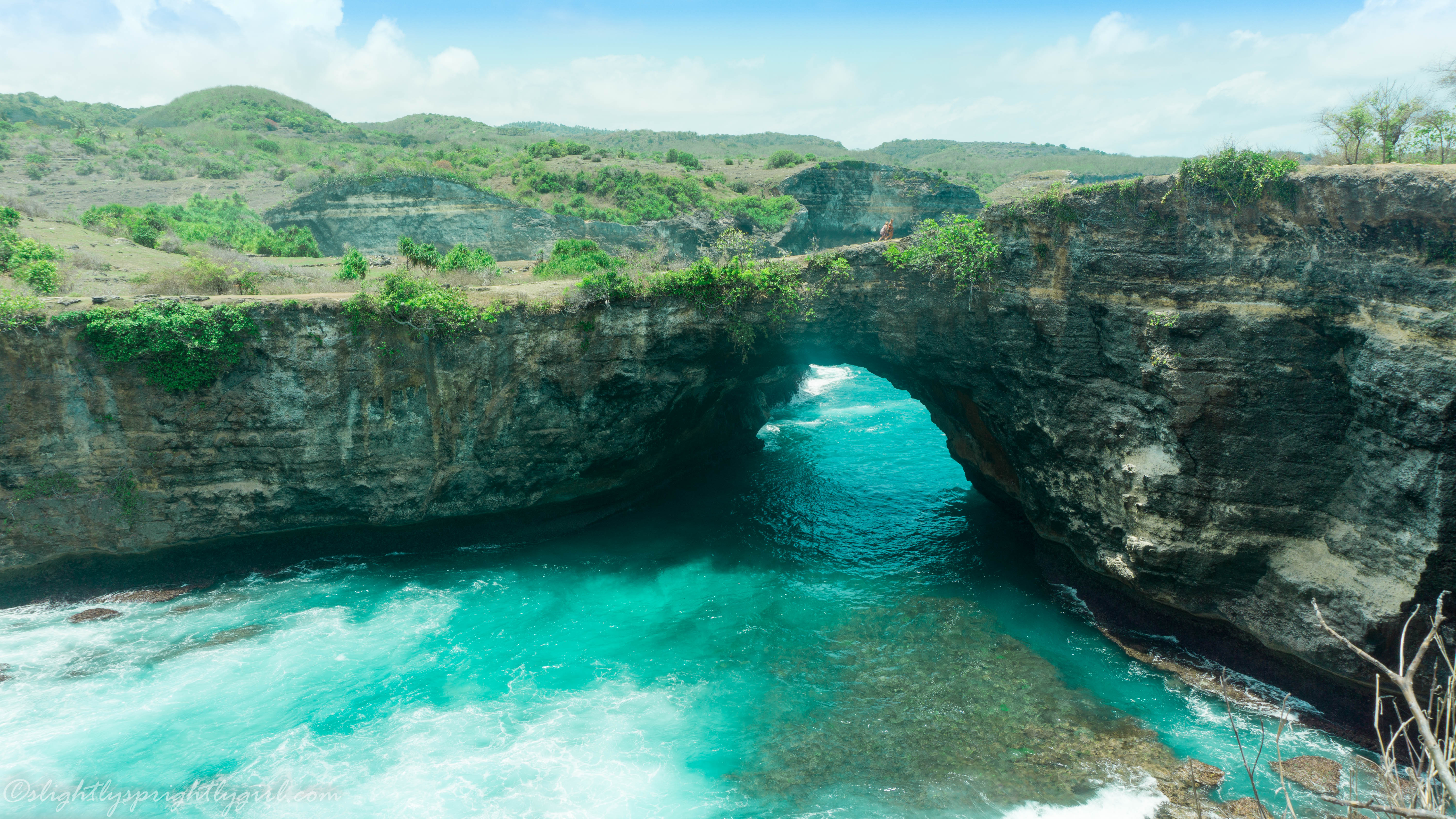 Broken beach on Nusa Penida