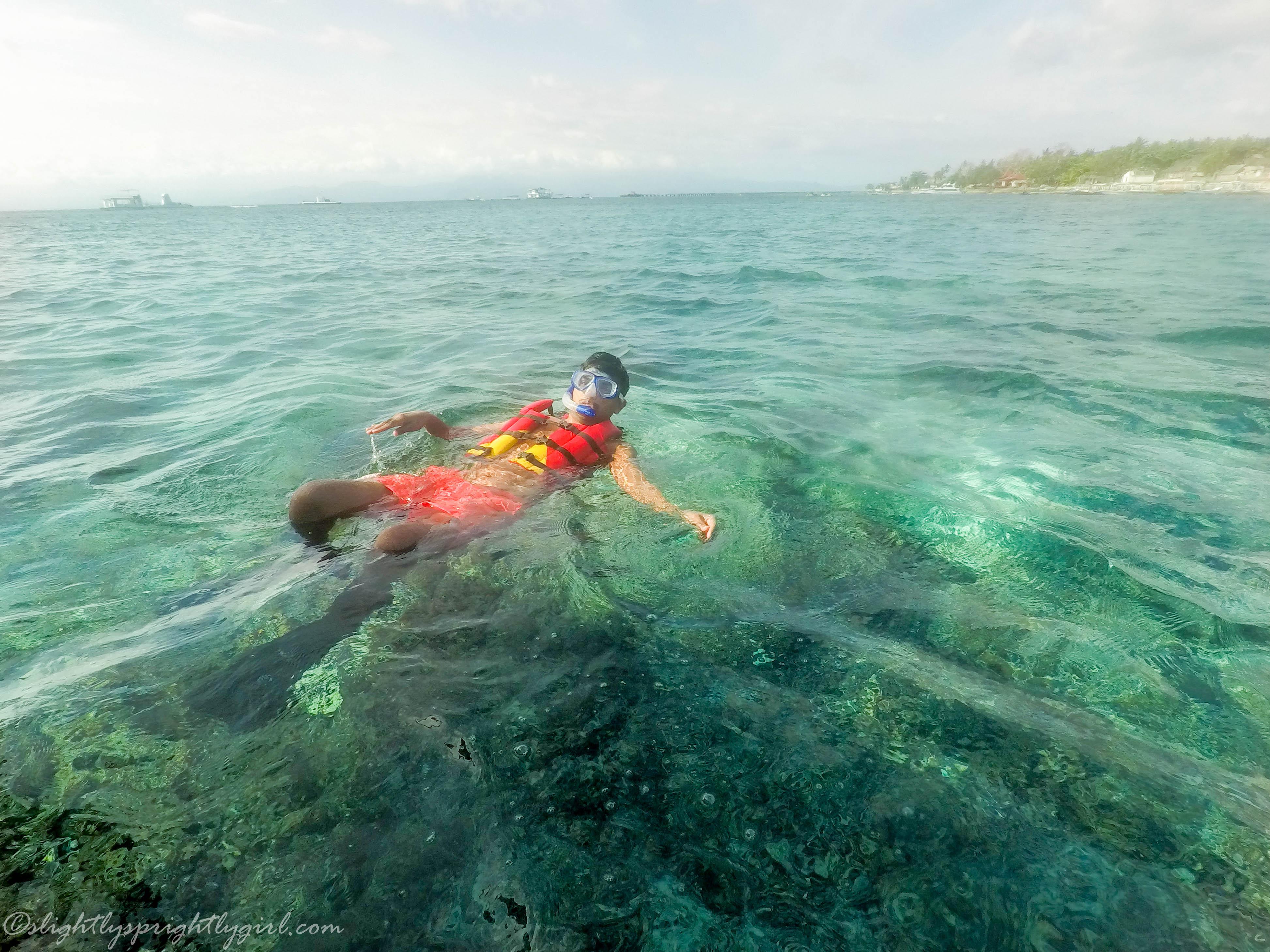 Snorkeling at Sanur