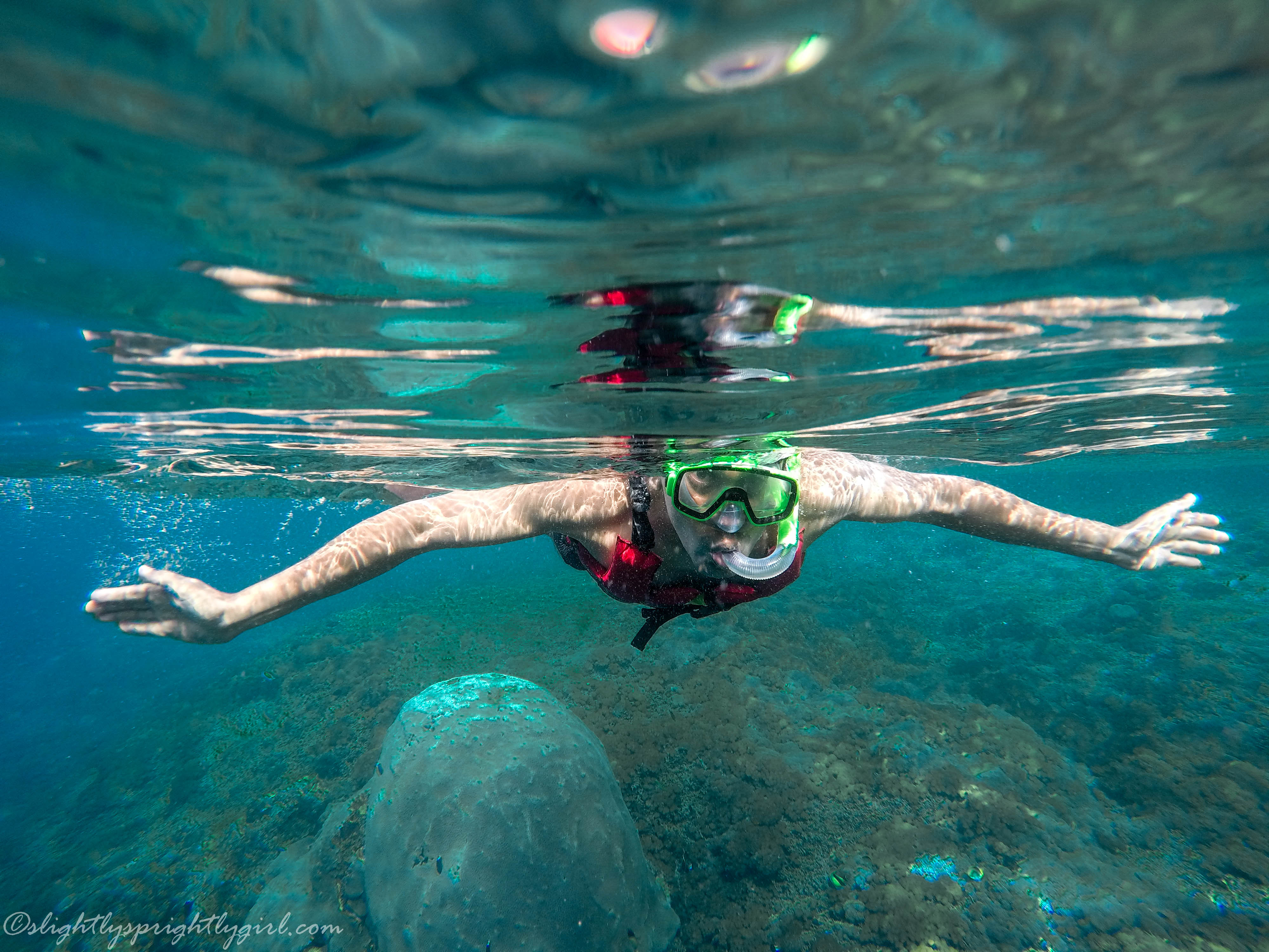 Snorkeling at Sanur beach