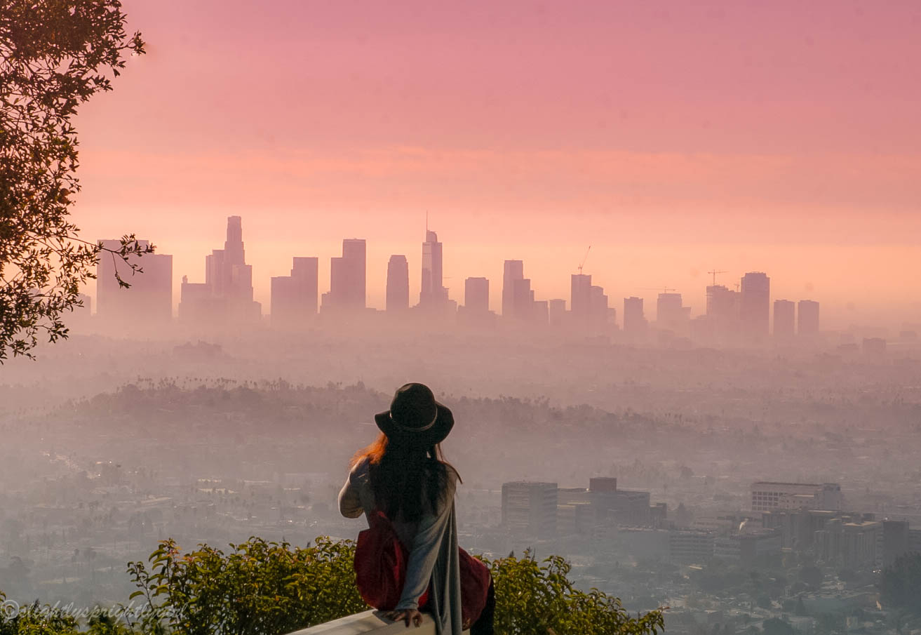 Incredible LA skyline views from Griffith Observatory