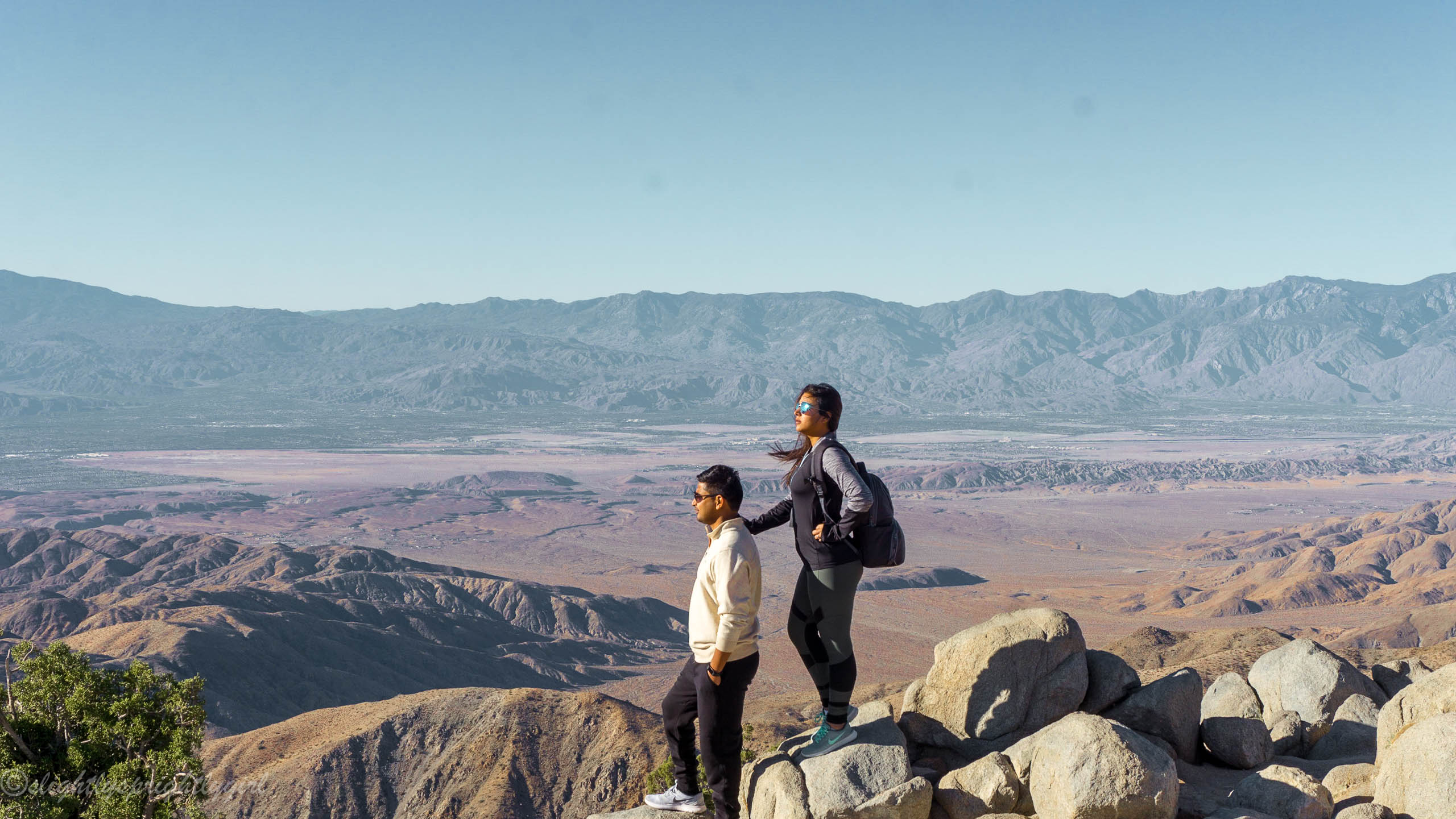 Travel couple at Keys View Point