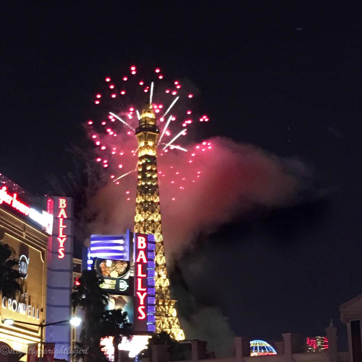 Las Vegas Fireworks on New Years Eve