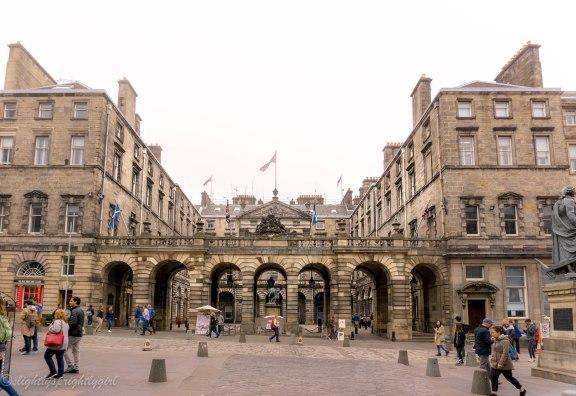 Medieval buildings in Edinburgh