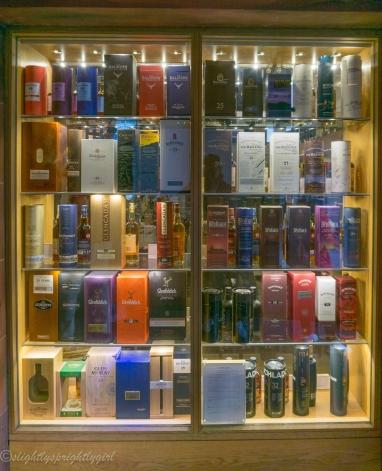 Bottles of single malt whiskey