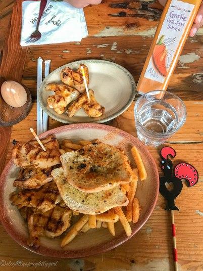 Grilled chicken at Nando's in Edinburgh