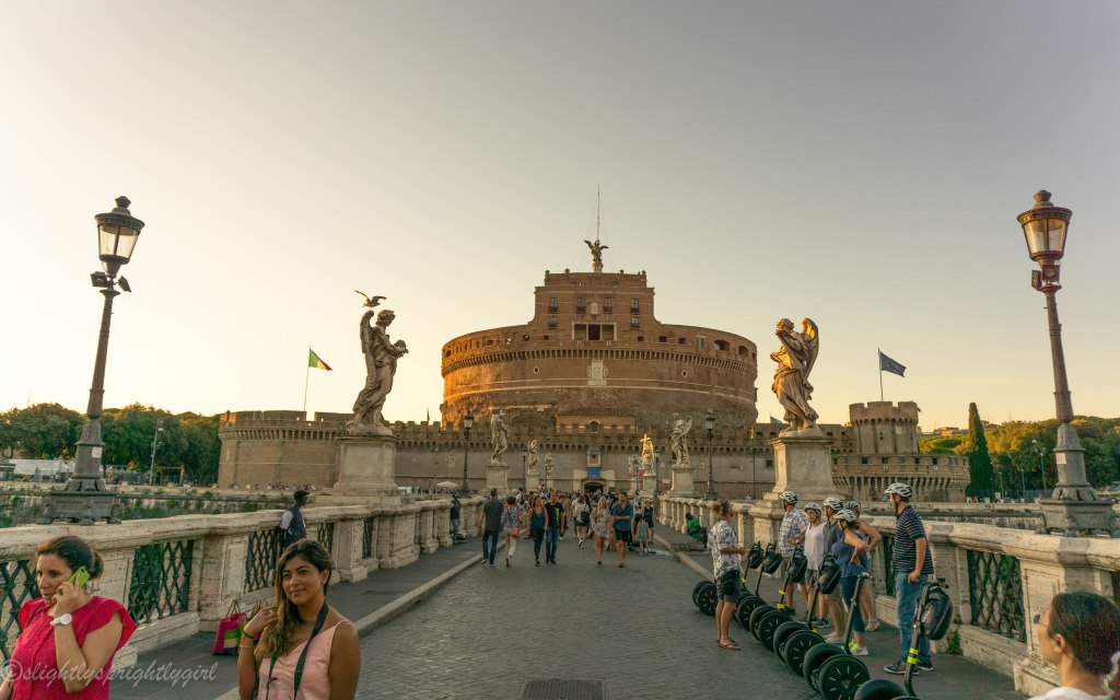 Castel Sant'Angelo from St Angelo Bridge