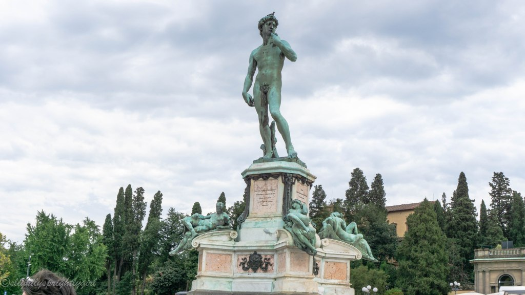 Michelangelo's David at Piazzale Michelangelo