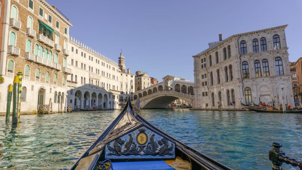 Rialto Bridge from a gondola